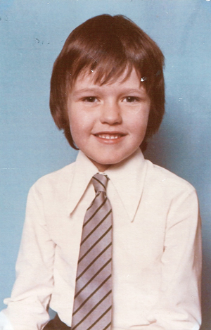 Dawe as a Pickhurst Junior School pupil