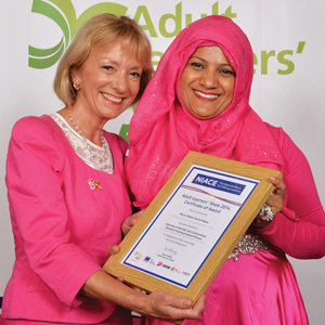 Workers' Educational Association chief executive Ruth Spellman and Nurun Nahar Zorna-Hoque