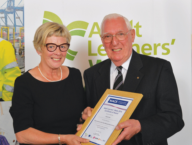 Counselling pensioner Robert a winning learner