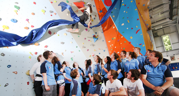 Record-breaking mountaineer opens sports centre