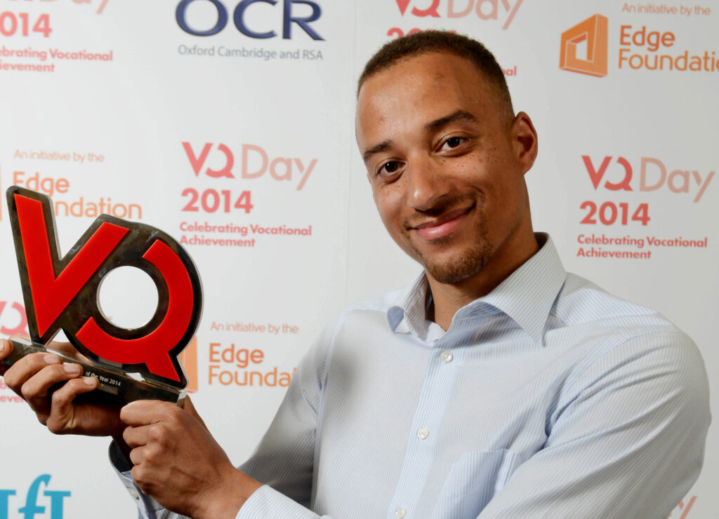 Blinder for VQ Day learner of the year