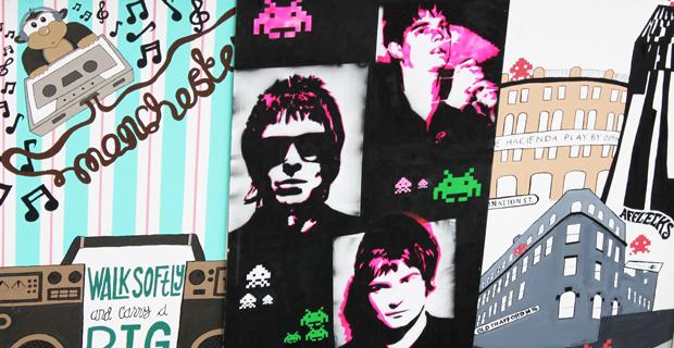 Mural for Manchester's arts scene
