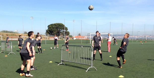 Getting a kick from training with Portuguese champions