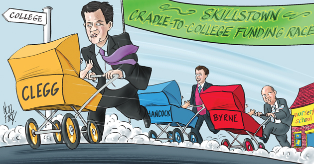 Match Clegg's 'cradle to college' pledge, sector demands