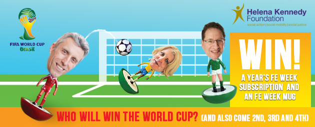 It's Brazil to lift the World Cup say FE and skills leaders in FE Week fundraiser