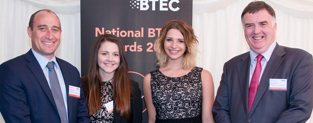 Exeter College treble at BTec Awards