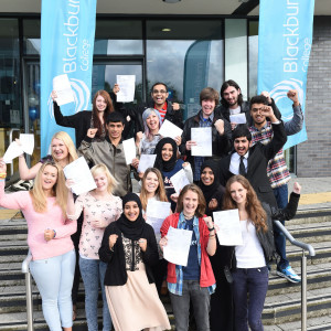 Blackburn College learners celebrate A-level success