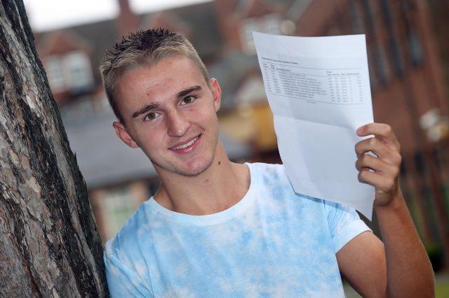Birmingham Metropolitan College A-level student Cameron Holsey