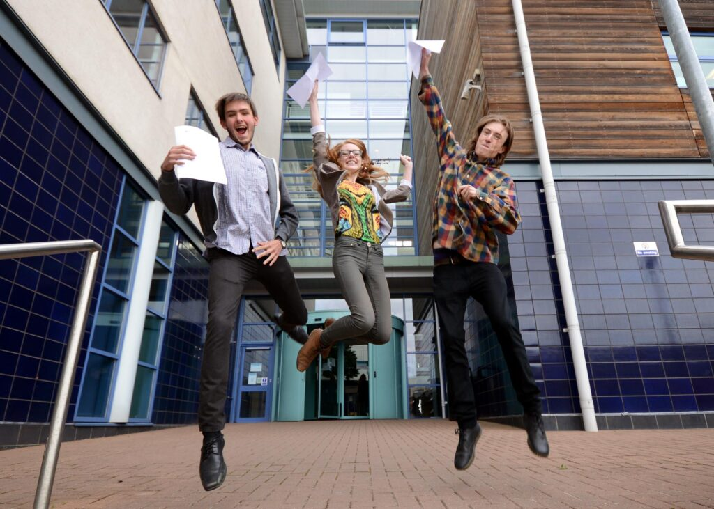 A-level results day 2014