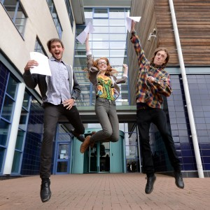 Derby College: Daniel Buckley, Lara White and Micha Davis