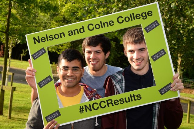 Nelson and Colne College Sixth Form: Umair Asif, Craig Hardy and Lewis Turner