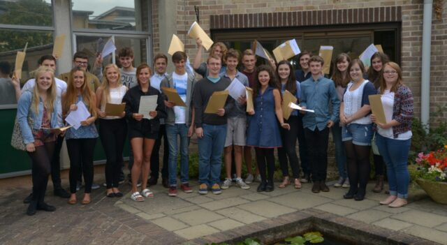 Richard Huish College's A-level class of 2014