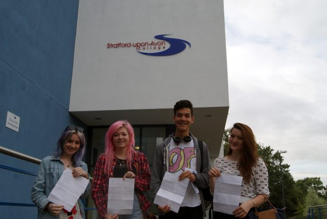 Stratford-upon-Avon-College A-level achievers 2014