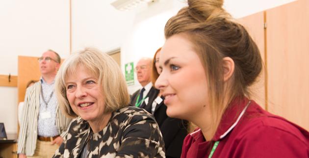 Blood pressure test for Home Secretary