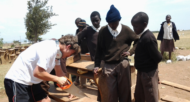 Students travel 13,000 miles to renovate African school