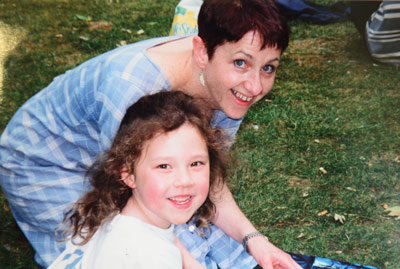 Dicketts with daughter Isabel, now aged 19