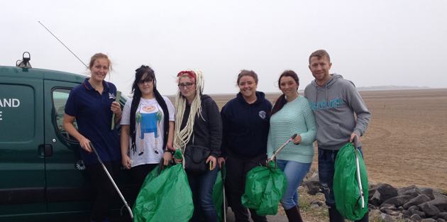 Making waves with beach clean-up