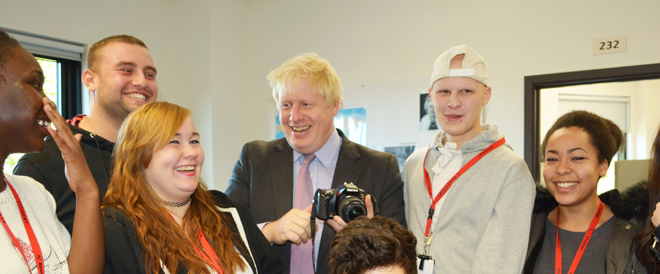 Mayor Boris officially opens £20m college campus