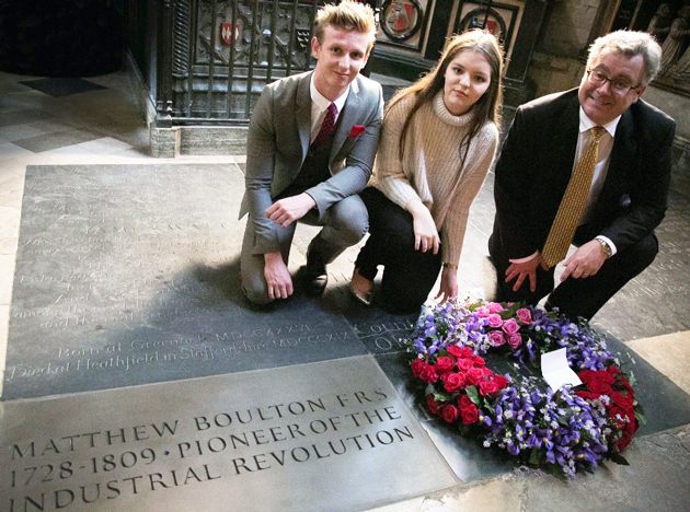 Plaque at Westminster Abbey honours industrialist