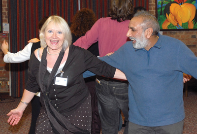 Kelly and Europe Singh at a Centre for Excellence in Leadership event (CEL)