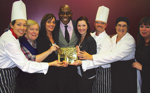 Ainsley dishes out FE team of the year award