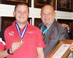 Sport student left partially paralysed by meningitis wins prestigious award