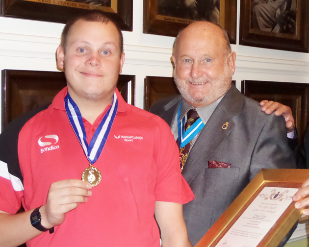 Sport student left partially paralysed by meningitis wins prestigious award