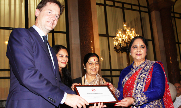 Dame awarded by Clegg for work with AoC in India