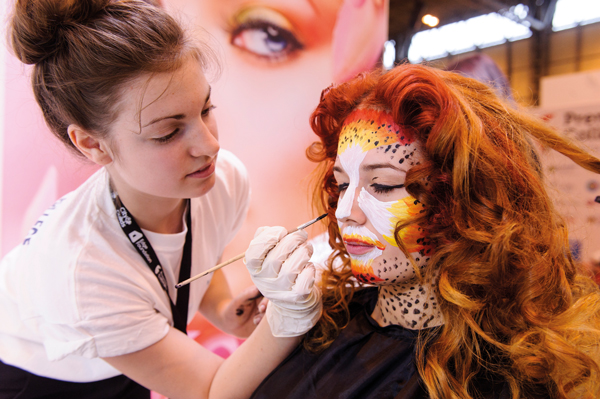Highbury College, Portsmouth on the Hairdressing Showcase stage