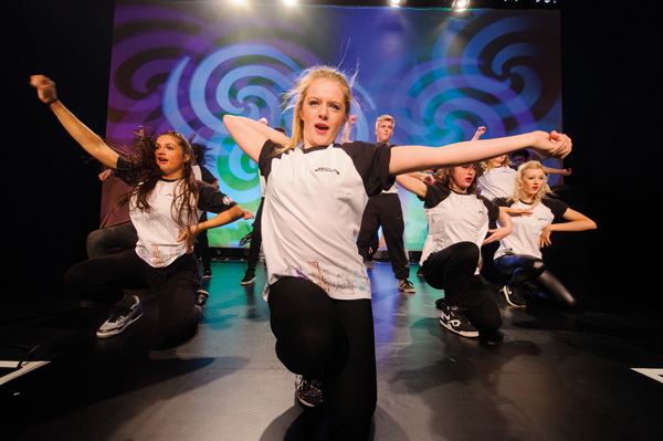 A Street dance troupe on the main BBC stage
