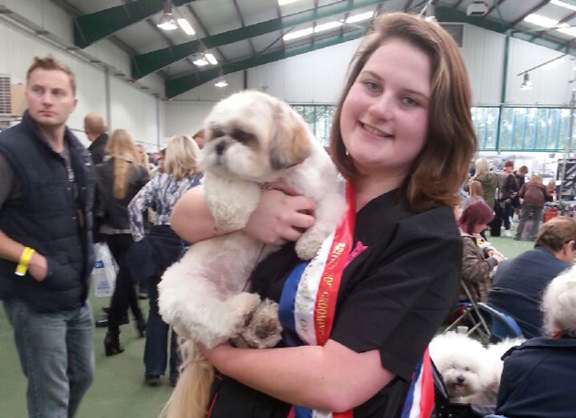 Teenage student is best newcomer at British Dog Grooming Championships