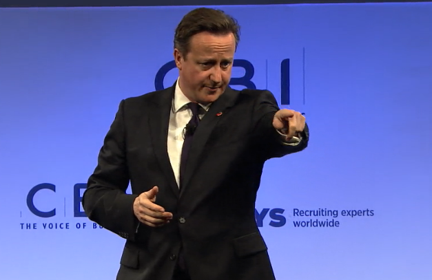 Cameron gives business leaders his lifelong learning commitment