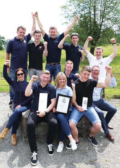 The Pepsico team celebrating winning the 2014 Brathay Challenge