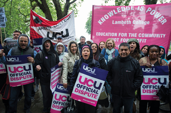 UCU members at Lambeth College vote to end strike