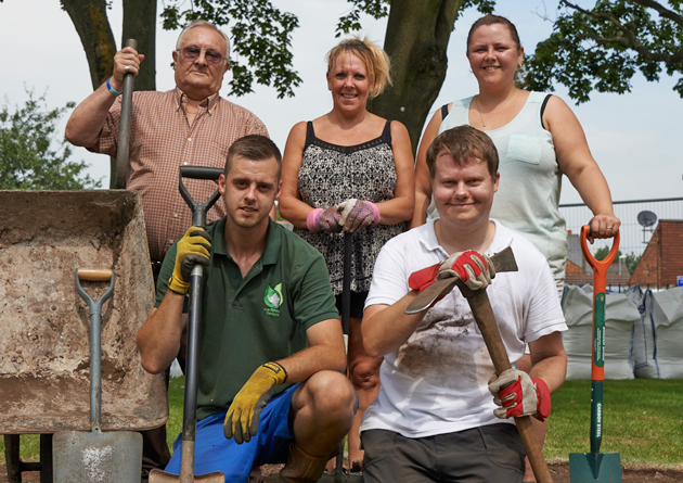 Digging in to create care home sensory garden
