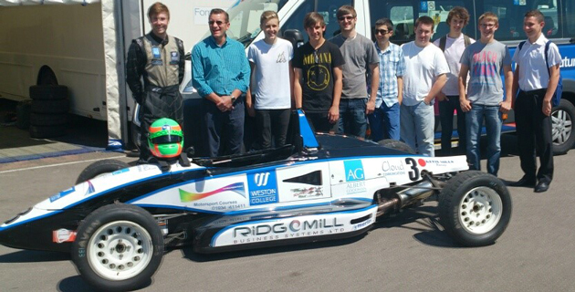 College in a hurry for motor racing success
