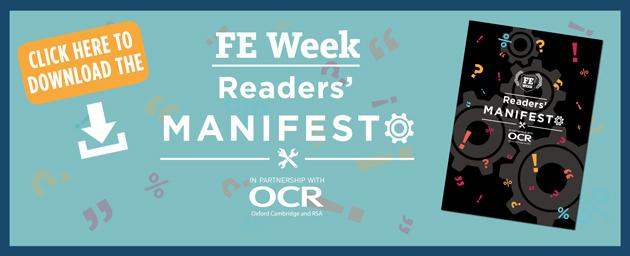 FE Week Readers' Manifesto