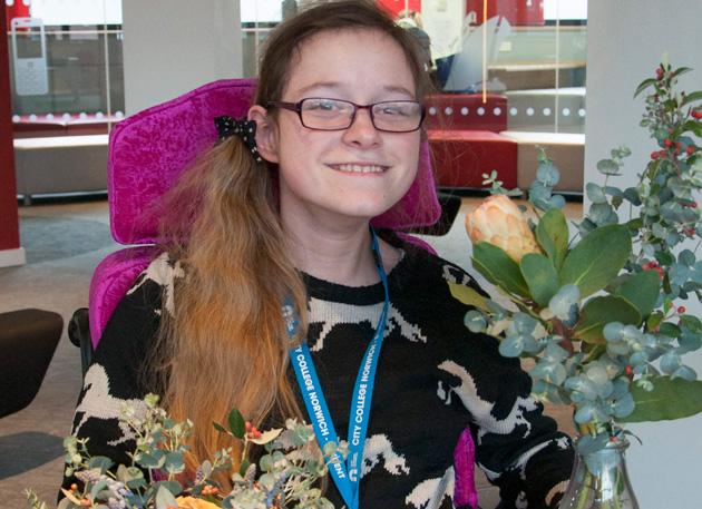 Disabled learner runs college fair