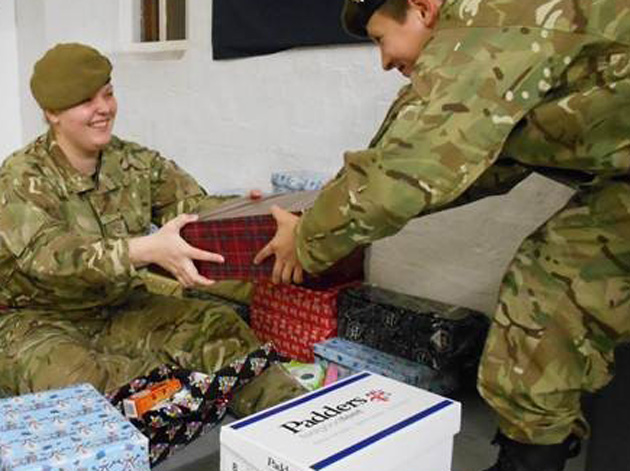 Gifts sent to serviceman and women spending Christmas overseas
