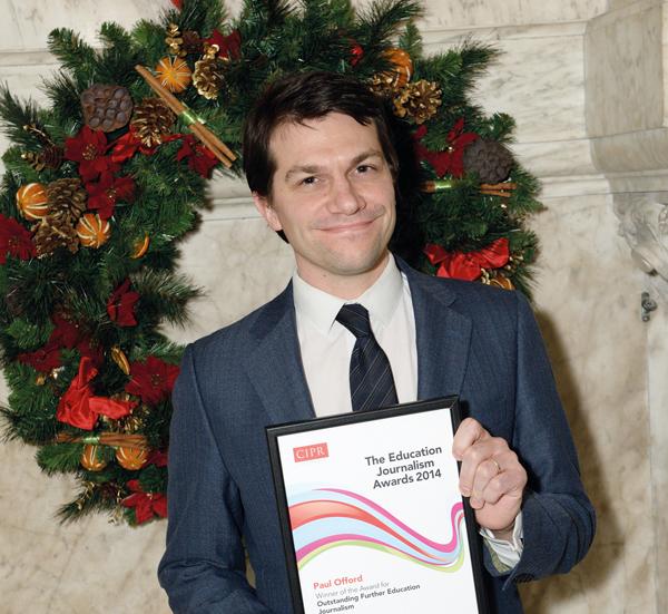 'Outstanding' FE Week repoter Paul