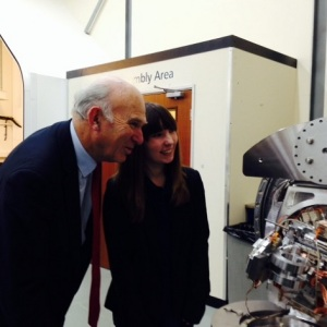 Vince Cable meets two millionth apprentice