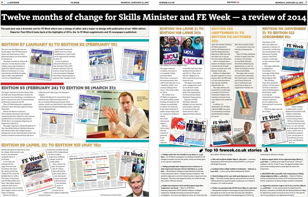 Twelve months of change for Skills Minister and FE Week — a review of 2014