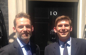 From left: National College for Digital Skills founders  Tom Fogden and Mark Smith. Pic: Twitter (@Wigdortz)