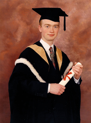 Farron graduating from Newcastle University in 1992