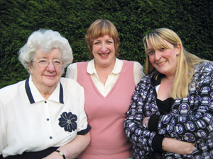 From left: Fovargue's mother Irene, who died last year, Fovargue and her daughter Vicky