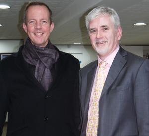 Nick Boles with City Lit principal Mark Malcolmson