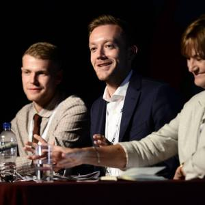 FE Week managing director, Shane Mann, chairing a session at last year's Festival of Education with Find a Future and AoC chair Carole Stott  (right) and World Skills gold medalist Ashley Terron (left).