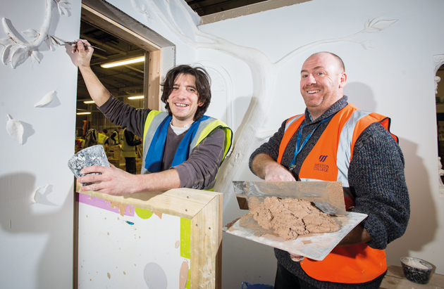 Plasterer Dan hoping for business success after old skills discovery