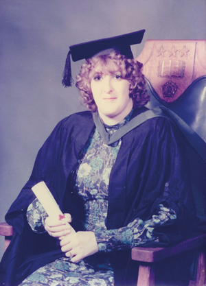 Fovargue graduating from Leeds University in 1978