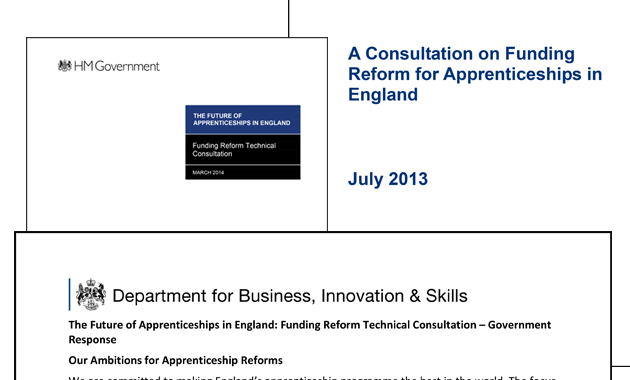 Apprenticeship funding question remains unanswered as government consults further on PAYE and credit account